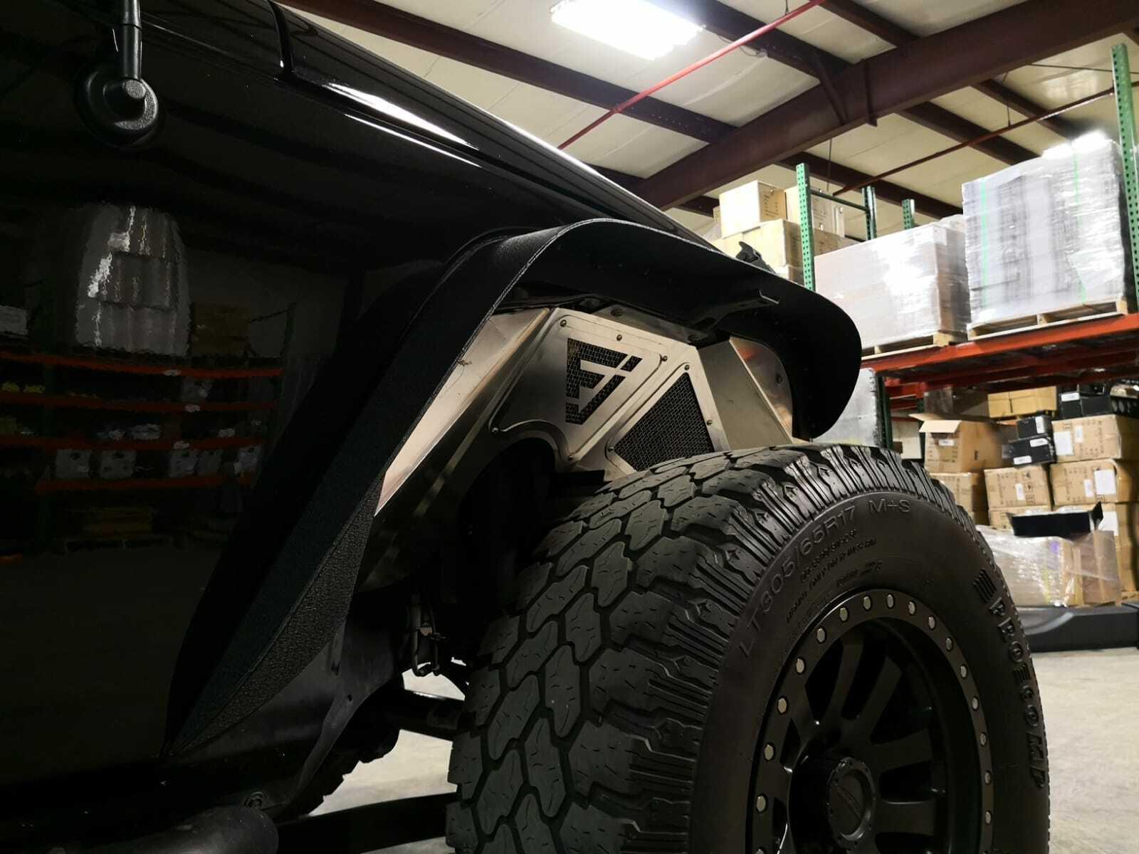 Jf Aluminum Fender Liner Set Front Wheel Well For Jeep