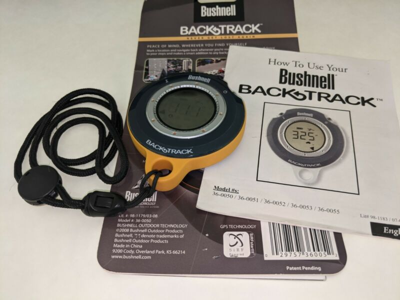 Bushnell BackTrack GPS Model 360050 Hunting Hiking Easy to Use Tested