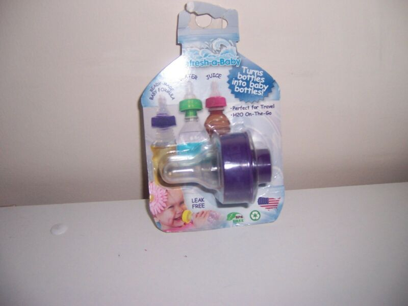 New Refresh a kid bottle  Nipple bottle top purple