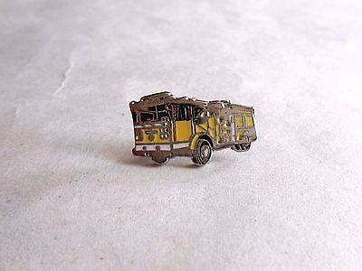 Vintage Enamel Firetruck Lapel Pin