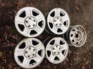 """16"""" 4 Jeep rims like new  one steel spare 350 obo"""
