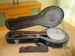 Vintage Brown Gold Tone BUC Concert-Scale Banjo Ukulele with Case Tapping Wanneroo Area Preview