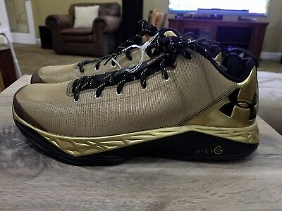 official photos 0f4b7 72a3e Under Armour Shoes Gold Fire Shot Basketball Micro G Size 13 Low Top  Sneakers