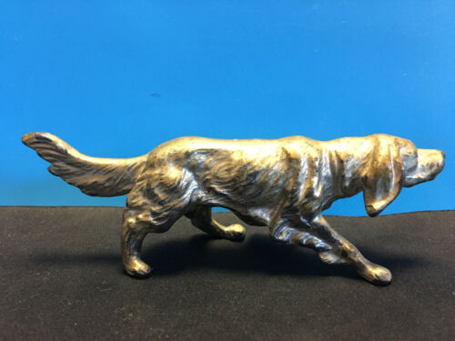 Old Vtg Collectible Lead Dog Irish Setter Animal Figurine