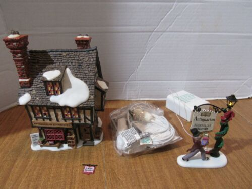 Dept. 56 Dickens Village Series 2002 Antiquarian Bookseller & A Rare Find Read