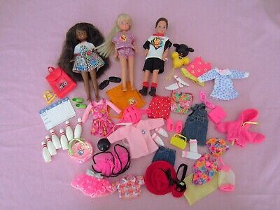 HTF Barbie STACIE Doll AA w/Clothes TODD Accessories 1980s Disney Polly Bowling