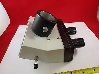 Microscope Part Leitz Germany Trinocular Head Optics As Is Bin73-12