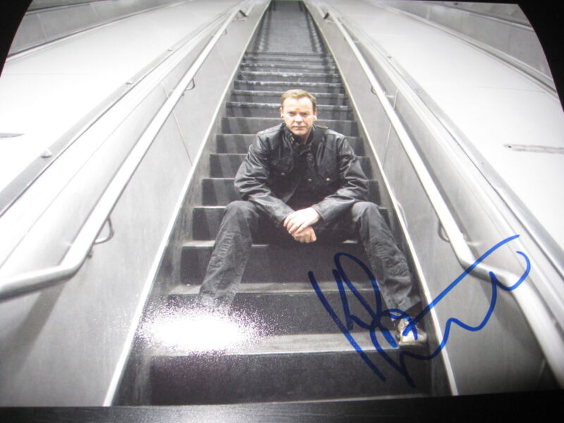 KIEFER SUTHERLAND SIGNED AUTOGRAPH 8x10 PHOTO 24 PROMO LIVE ANOTHER DAY COA O