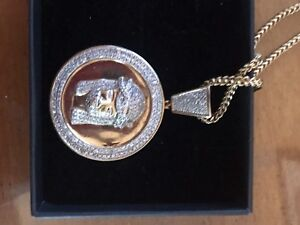 18k chain with pendent