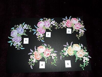 TATTERED LACE COUNTRYSIDE COLLECTION COUNTRY GARDEN FLOWER DIE CUTS X 10