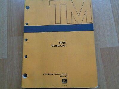 John Deere 646b Compactor Technical Service Repair Manual Tm1116 Oem