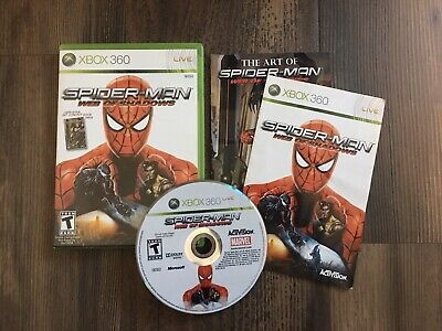 Spider-Man: Web of Shadows (Xbox 360) CIB Complete with Art Book. Tested. Rare.