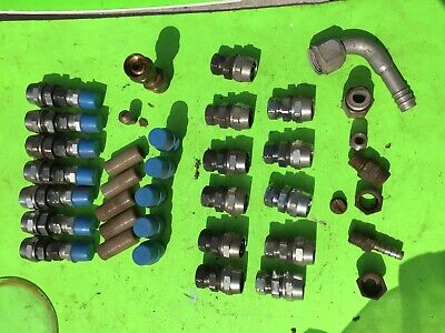 Farm Commercial Machinery Lot Of Hose Fittings 6 Pounds. Item 10283