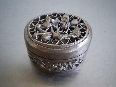 Box Boxset Miniature Solid Silver Goldsmith Asia Deco Indo China Silver Bo Staff
