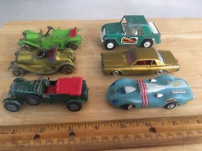Lot of 6 Vintage Matchbox King Size Models Yesteryear Ideal Slot Cars Tootsietoy