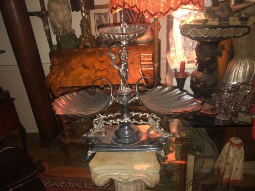 Beautiful Art Nouveau Centerpiece  Calling Card Tray Holder Wilcox Silver Plate