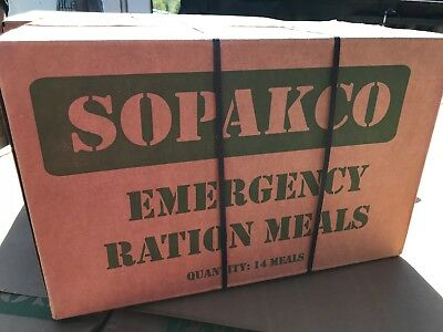 Case 14 Sopakco Mre Reduced Sodium Emergency Ration Meals Ready To Eat 12 17