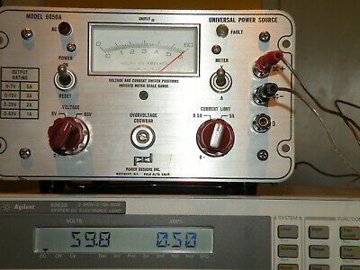 Pdi Power Designs 6050a Precision Dc Source 60vdc 500ma 6v 5a Load Tested