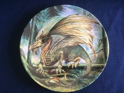 """Danbury Mint The Dragons Of Enchantica """"The Forest Dragon """" (some scratches)"""
