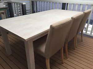 DINING TABLE AND CHAIRS FROM FREEDOM Maroochydore Maroochydore Area Preview