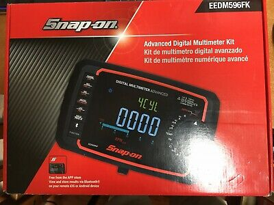 Snap-on Eedm596fk Advanced Digital Multimeter Bluetooth Enabled