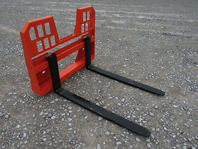 Kubota Skid Steer Attachment 48 5500 Lbs Walk Through Pallet Forks - Ship 149