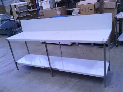 Stainless steel bench 2300x600 with 300 splash back all 304 SS
