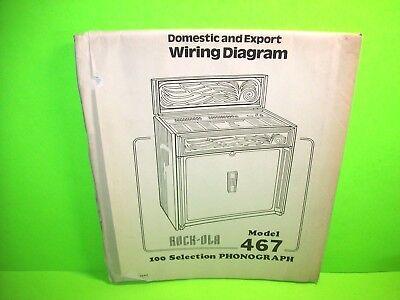 Rock Ola 467 New Princess Original Jukebox Phonograph Wiring diagram Schematic