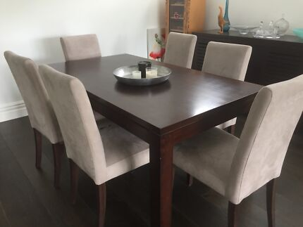 Extendable Dining Table, Chairs and Sideboard