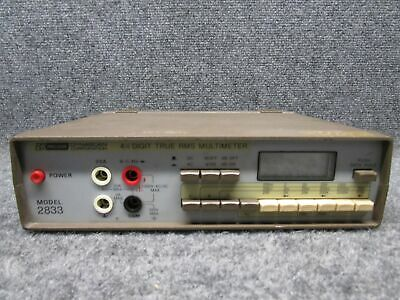 Bk Precision Dynascan Corp Model 2833 4 12 Digit True Rms Multimeter Tested