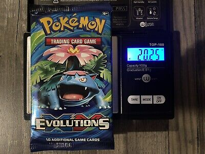 Pokemon Evolutions Sealed Booster Pack - Heavy? - Charizard? 20.25g!