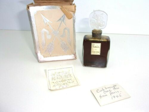 VINTAGE LANCOME PERFUME WITH BOX! RARE, FRANCE!  FULL