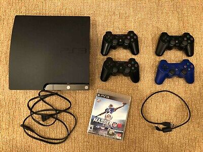 Sony PlayStation 3 Slim (CECH-2001A) Bundle with 4 Controllers and Madden 16