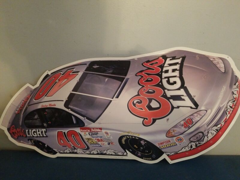 (L@@K) Coors Light Beer Racing Nascar Sterling Marlin #40 Tin Sign mint