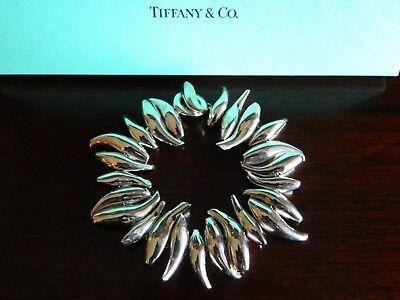 NIB Tiffany & Co Frank Gehry Fish Toggle Bracelet Sterling Silver 7.75