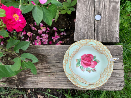Extremely Rare Paragon Signed Johnson Vintage Paragon Teacup Saucer Mint Rose - $750.00