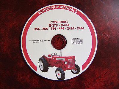 International Harvester 2424 2444 B275 B414 354 364 384 Workshop Repair Manual