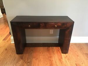 Writing desk (or great accent/ hall / console table) -hardwood