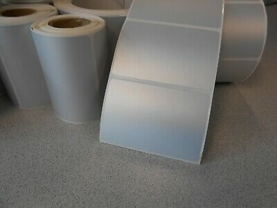 """Lot of 9 rolls of 3"""" x 2"""" Thermal Transfer Paper Labels - about 2600"""