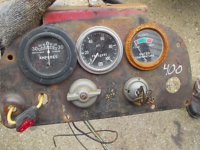 Farmall 400 Tractor Ih Ihc Original Working Key Switch W Dash Panel Gauges