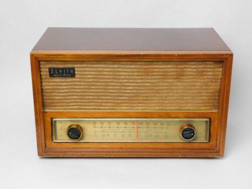 "Vintage ZENITH C730 ""The Super Serenade"" AM FM Tube Radio in Wood Case (1958)"