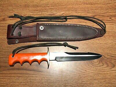 Randall Made Knives Knife Model 16 Diver Rare G10 Blaze Orange Combat Guard MINT