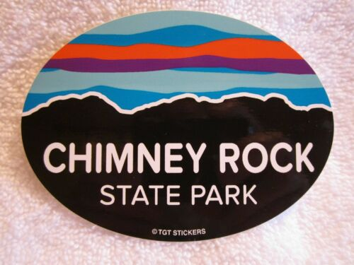 """CHIMNEY ROCK STATE PARK"" - NORTH CAROLINA NC - SOUVENIR TRAVEL STICKER / DECAL"