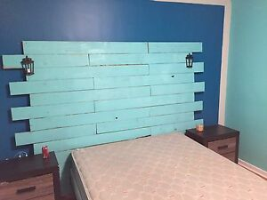 Homemade reclaimed headboards