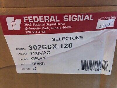 Federal Signal 302gcx-120 Model Selectone Speakeramplifier 120 Vac New