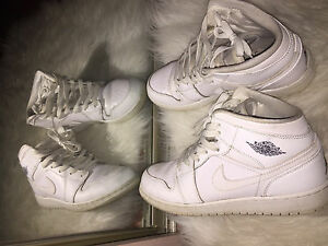 Nike Air Jordan's (mid) in White
