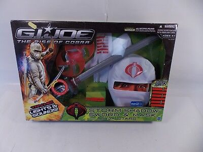 GI JOE STORM SHADOW SWORD & MASK PLAYSET SEALED MIB COSPLAY HALLOWEEN (Storm Shadow Mask)