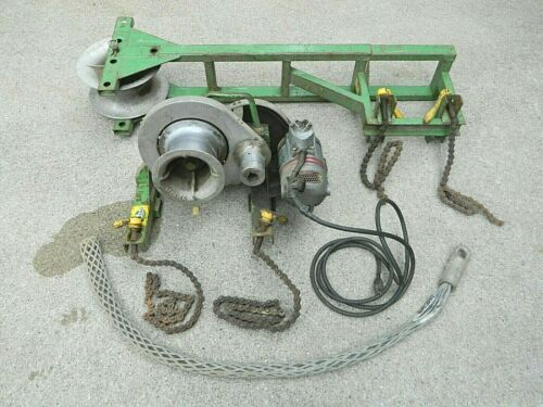 Greenlee 640 Cable Wire Puller Tugger & 649 Pipe Adapter Sheave, MICHIGAN PICKUP