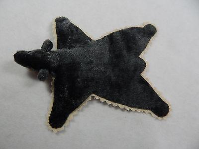"3""x4"" World Of Miniature Bears Dollhouse Miniature Rug Carpet Charcoal Vintage"