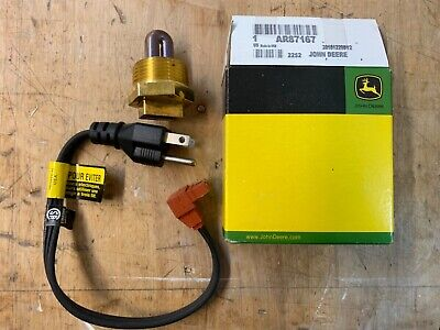 John Deere 650 750 850 950 1050 670 770 790 Tractor Engine Block Heater